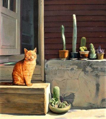 Сидела кошка на пороге