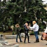 Март в парке Цветник